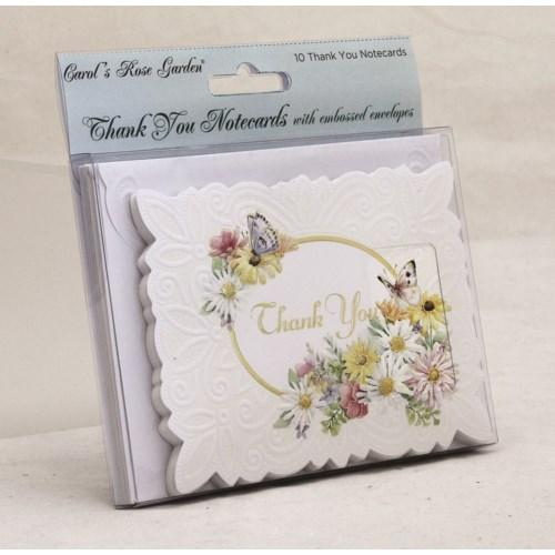 Daises & Butterfly - 10 pk Thank You Cards - Lemon And Lavender Toronto