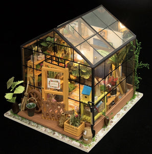 DIY Miniature Greenhouse with LED light - Lemon And Lavender Toronto