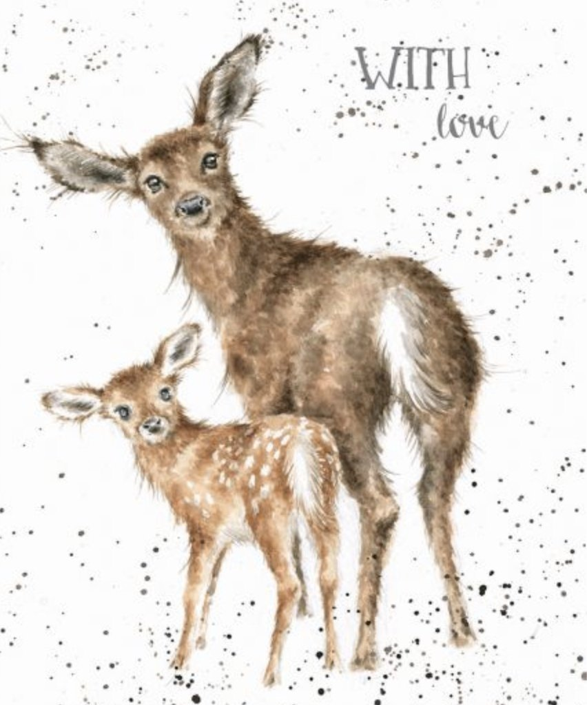 'Doe and Fawn' card - Lemon And Lavender Toronto