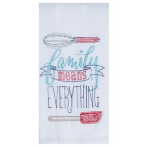 Family Means Everything - Tea Towel - Lemon And Lavender Toronto