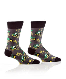 Farm Life Design, Men's Crew Sock - Lemon And Lavender Toronto
