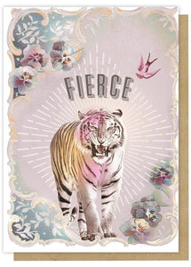 """Fierce"" - Greeting Card - Lemon And Lavender Toronto"