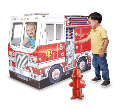 Fire Truck Indoor Playhouse - Lemon And Lavender Toronto
