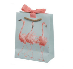 Flamingo Gift Bag - Wrendale - Lemon And Lavender Toronto