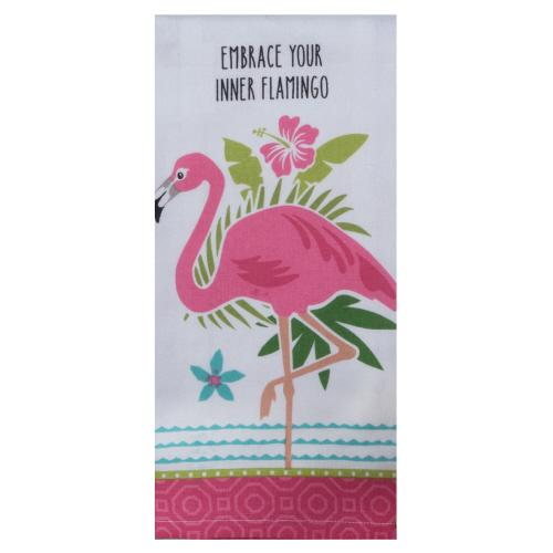 Flamingo - Tea Towel - Lemon And Lavender Toronto