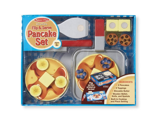 Flip & Serve Pancake Set - Wooden Play Food - Lemon And Lavender Toronto