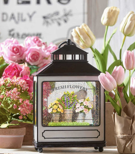 Fresh Flowers Lighted Water Lantern - Lemon And Lavender Toronto