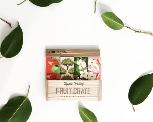 Fruit Crate -200 Sticky Page Flags - Lemon And Lavender Toronto