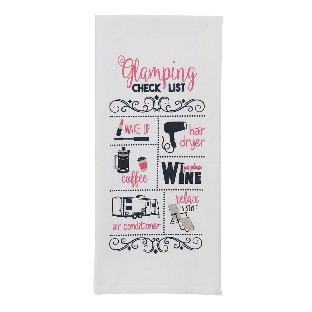 Glamping Checklist Tea Towel - Lemon And Lavender Toronto
