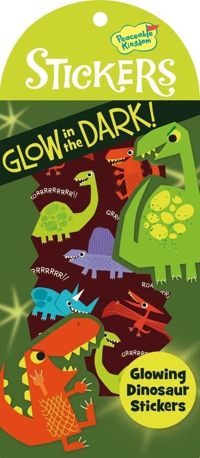 GLOWING DINOSAURS GLOW IN THE DARK STICKERS - Lemon And Lavender Toronto