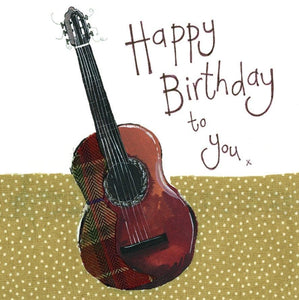 Guitar Birthday Card - Lemon And Lavender Toronto