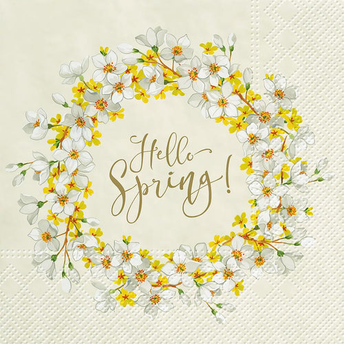 Hello Spring - Luncheon Napkins Pack of 20 - Lemon And Lavender Toronto