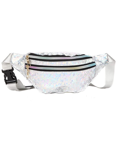 Holographic Fanny Pack Silver - Lemon And Lavender Toronto