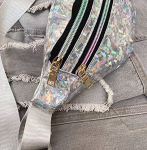 Holographic Fanny Pack Silver *PRE-ORDER FOR MONDAY DELIVERY* - Lemon And Lavender Toronto