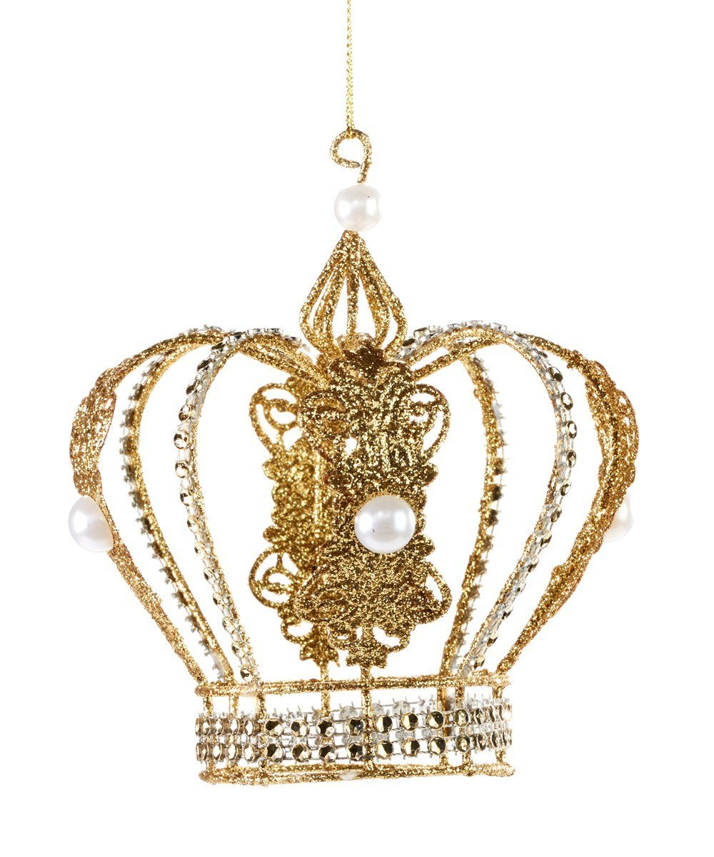 Iron Wire Gold Crown Ornament - Lemon And Lavender Toronto