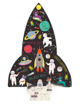Load image into Gallery viewer, Jigsaw 80 pc - Space Rocket - Lemon And Lavender Toronto