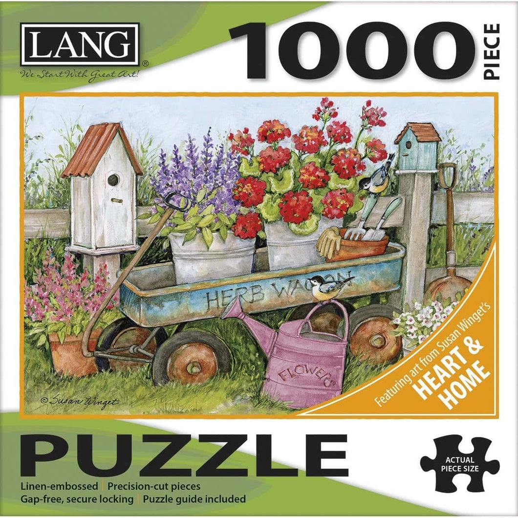 LANG 1000 Piece Puzzle - Blue Wagon - Lemon And Lavender Toronto
