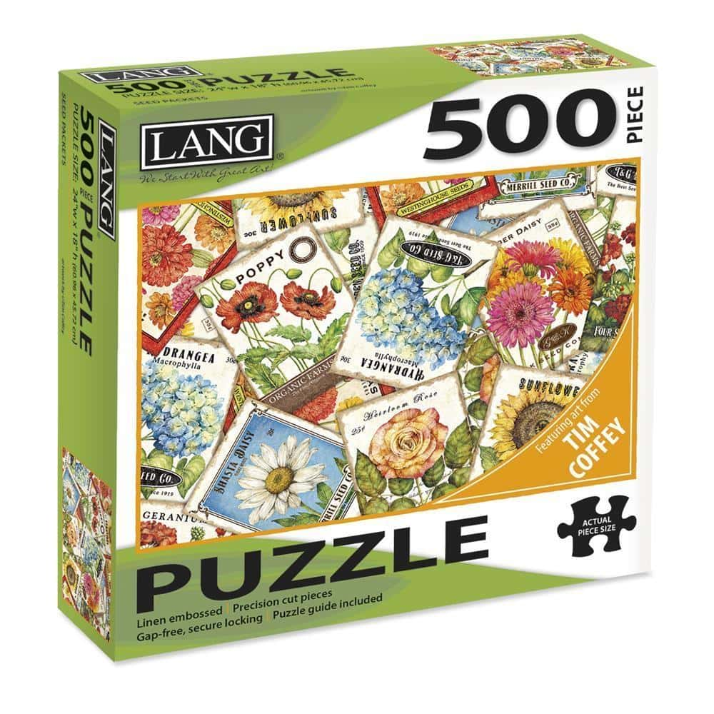 LANG 500 Piece Puzzle - Seed Packets - Lemon And Lavender Toronto