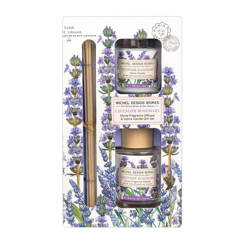Lavender Rosemary Home Fragrance Diffuser and Votive Candle Set - Lemon And Lavender Toronto