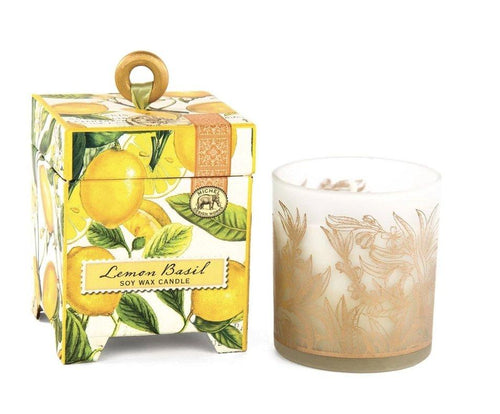 Lemon Basil 6.5 oz. Soy Wax Candle - Lemon And Lavender Toronto