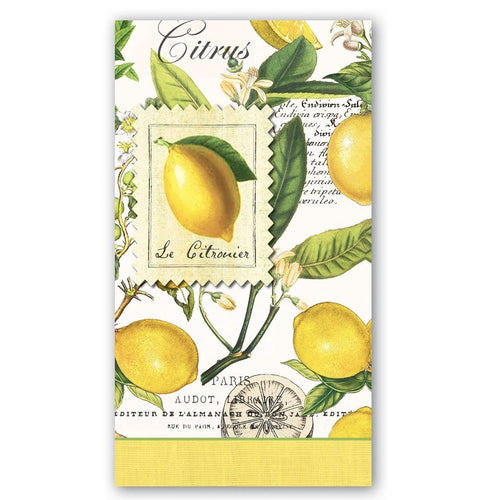 Lemon Basil Hostess Napkins - Lemon And Lavender Toronto