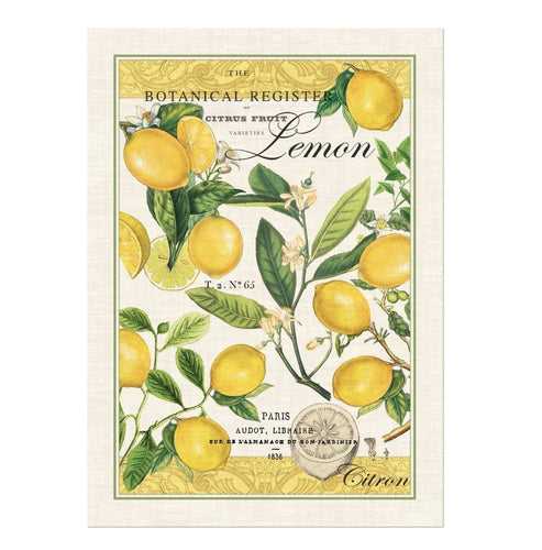 Lemon Basil Kitchen Towel - Lemon And Lavender Toronto