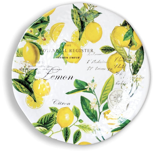 Lemon Basil Large Round Melamine Platter - Lemon And Lavender Toronto