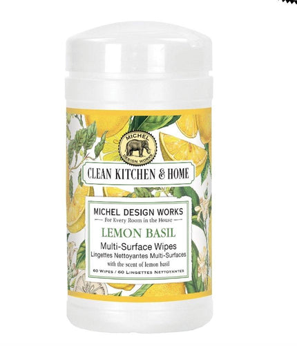 Lemon Basil Multi-Surface Wipes - Lemon And Lavender Toronto