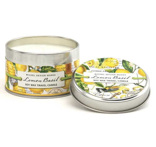 Lemon Basil Travel Candle - Lemon And Lavender Toronto