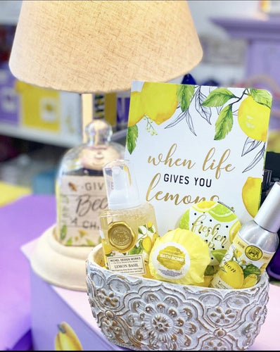 Lemon Bliss Gift Basket in Planter - Lemon And Lavender Toronto