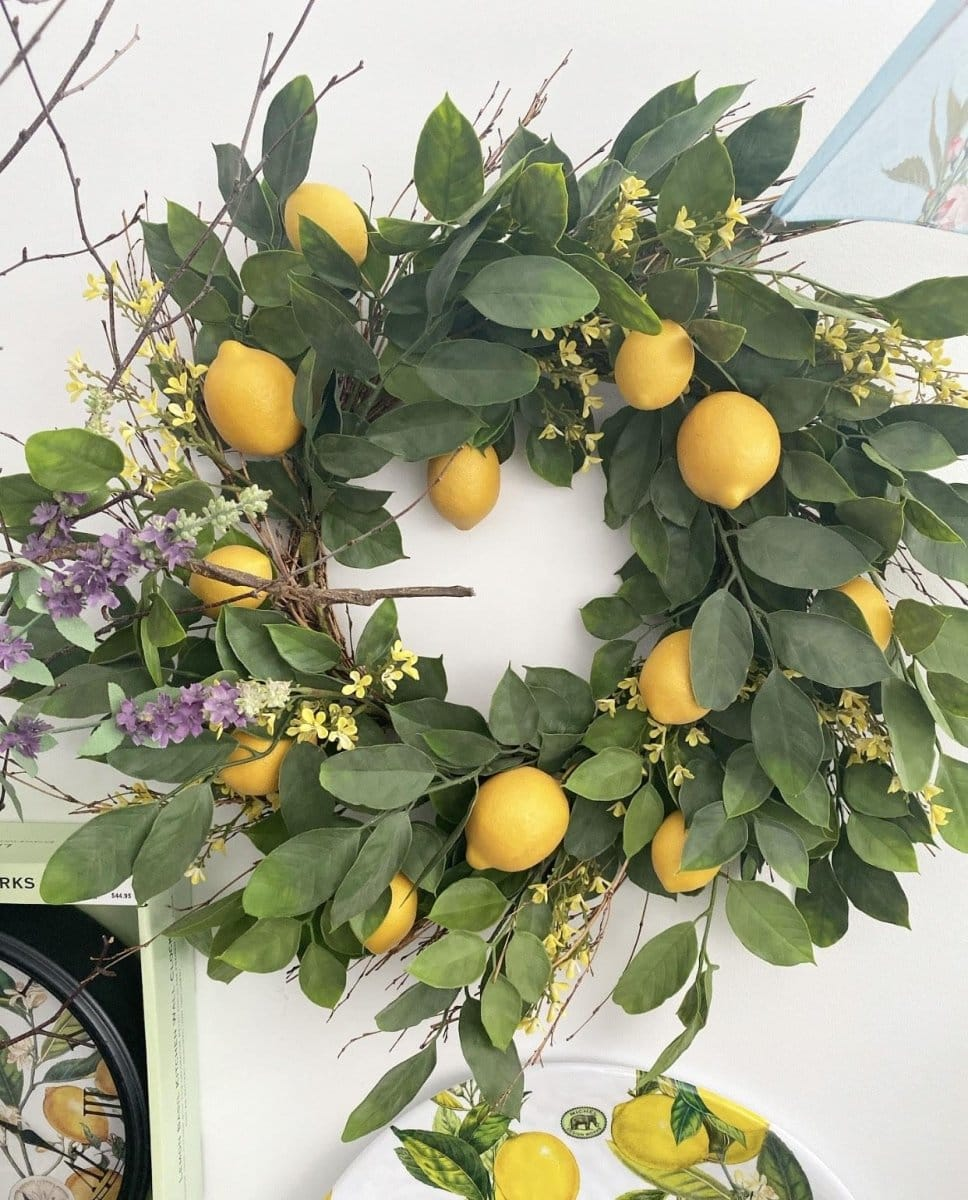 Lemon Branch Wreath - Lemon And Lavender Toronto