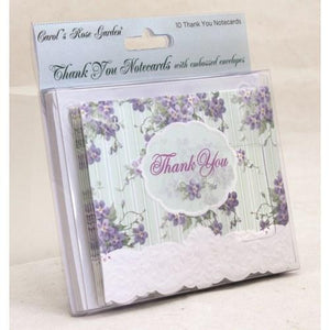 Lilac - 10 pk Thank You Cards - Lemon And Lavender Toronto