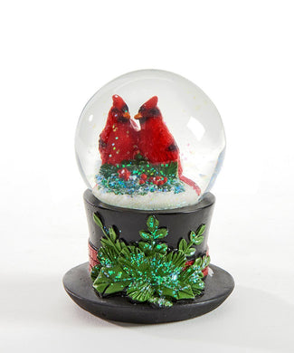 Little Cardinal Waterglobe in a Hat - Lemon And Lavender Toronto
