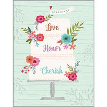 Load image into Gallery viewer, Love, Honour, Cherish Wedding Card - Lemon And Lavender Toronto