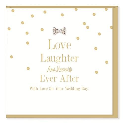 Love & Laughter - Wedding Card - Lemon And Lavender Toronto