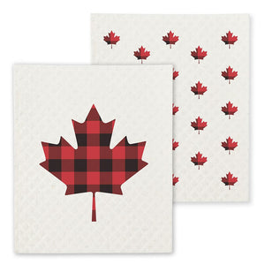 Maple Leaf Dish Cloths. Set of 2 - Lemon And Lavender Toronto