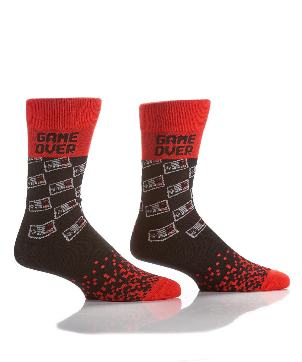 Men's Crew Sock, Video Game - Lemon And Lavender Toronto