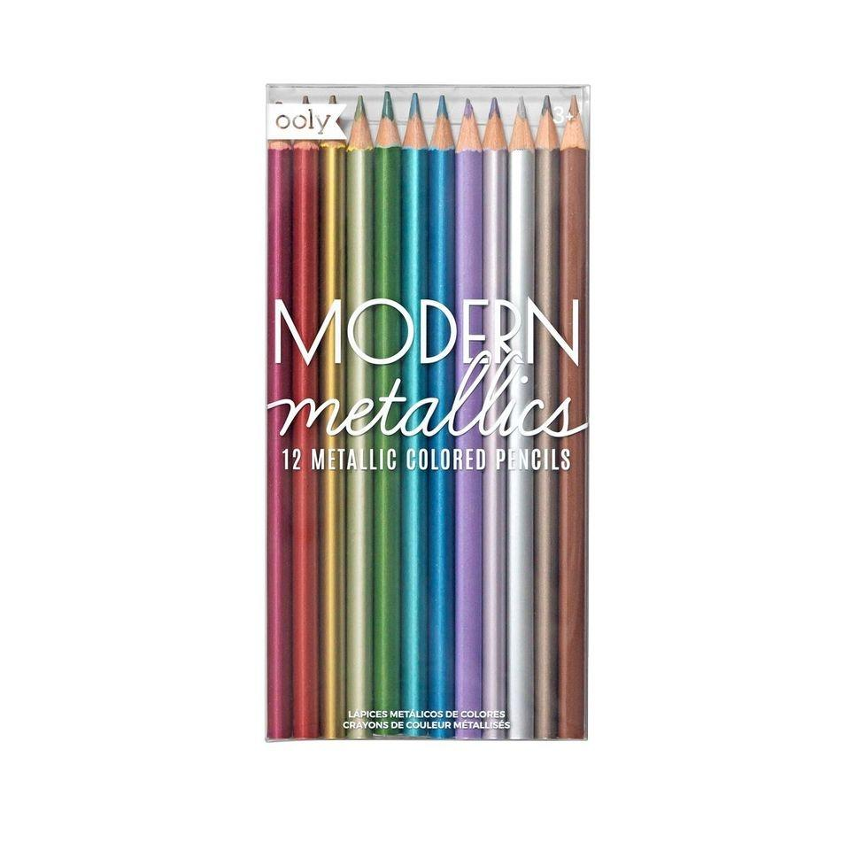 Modern Metallics Colored Pencils - Set of 12 - Lemon And Lavender Toronto