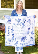 Load image into Gallery viewer, Mother's Poem Scarf Blue - April Cornell - Lemon And Lavender Toronto