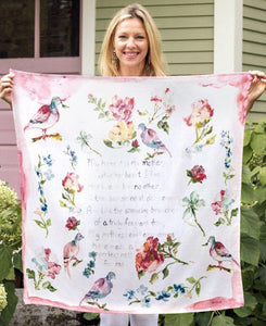 Mother's Poem Scarf Pink - April Cornell - Lemon And Lavender Toronto