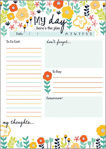 My Day's Plan - Daily Planner Pad - Lemon And Lavender Toronto