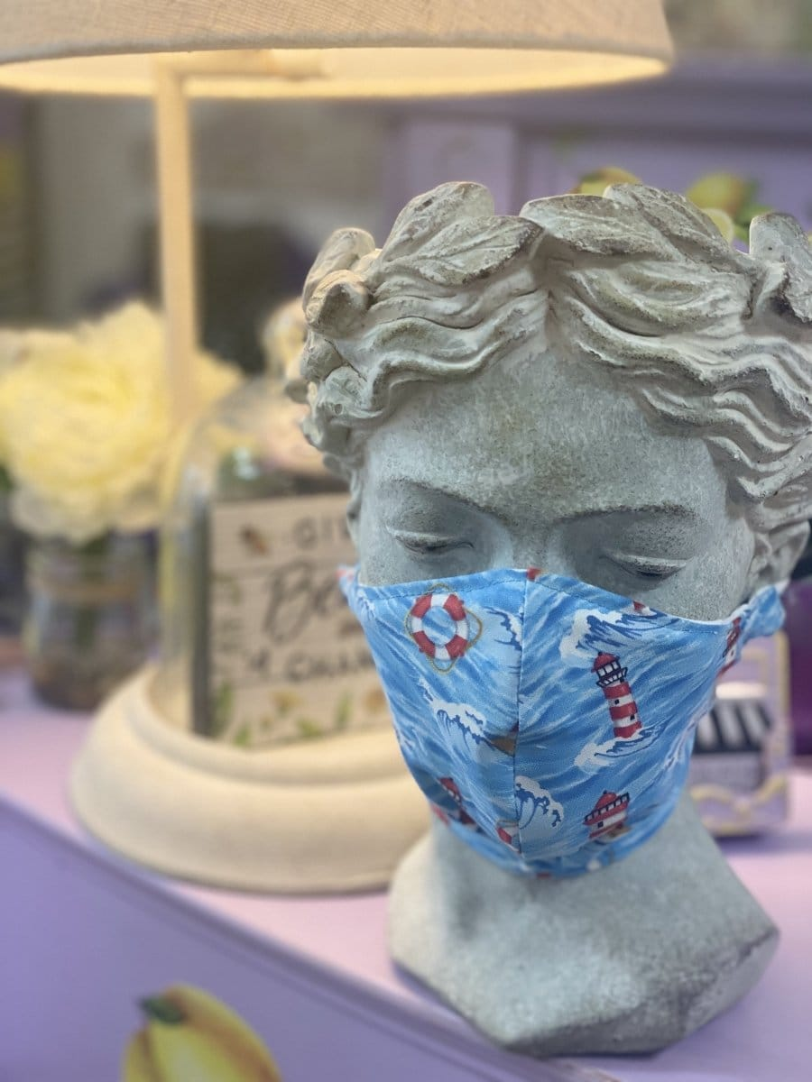 Nautical Face Mask ( adult ) - Lemon And Lavender Toronto