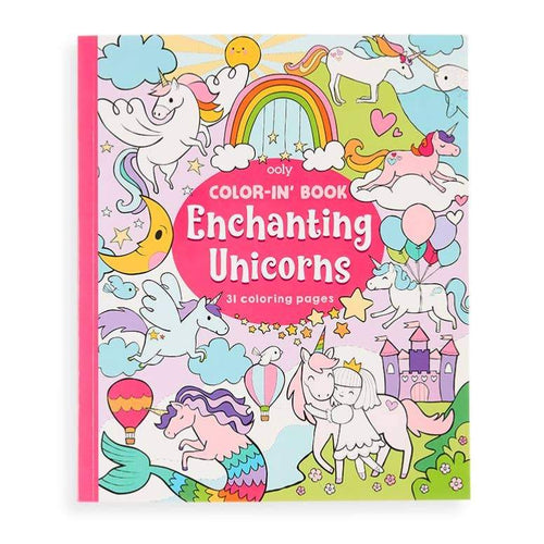 Ooly - Color-in' Book: Enchanting Unicorns - Lemon And Lavender Toronto