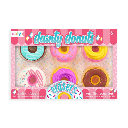 Ooly - Dainty Donuts Scented Erasers - Set of 6 - Lemon And Lavender Toronto