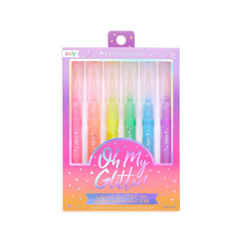 Ooly -Oh My Glitter! Neon Highlighters - Set of 6 - Lemon And Lavender Toronto