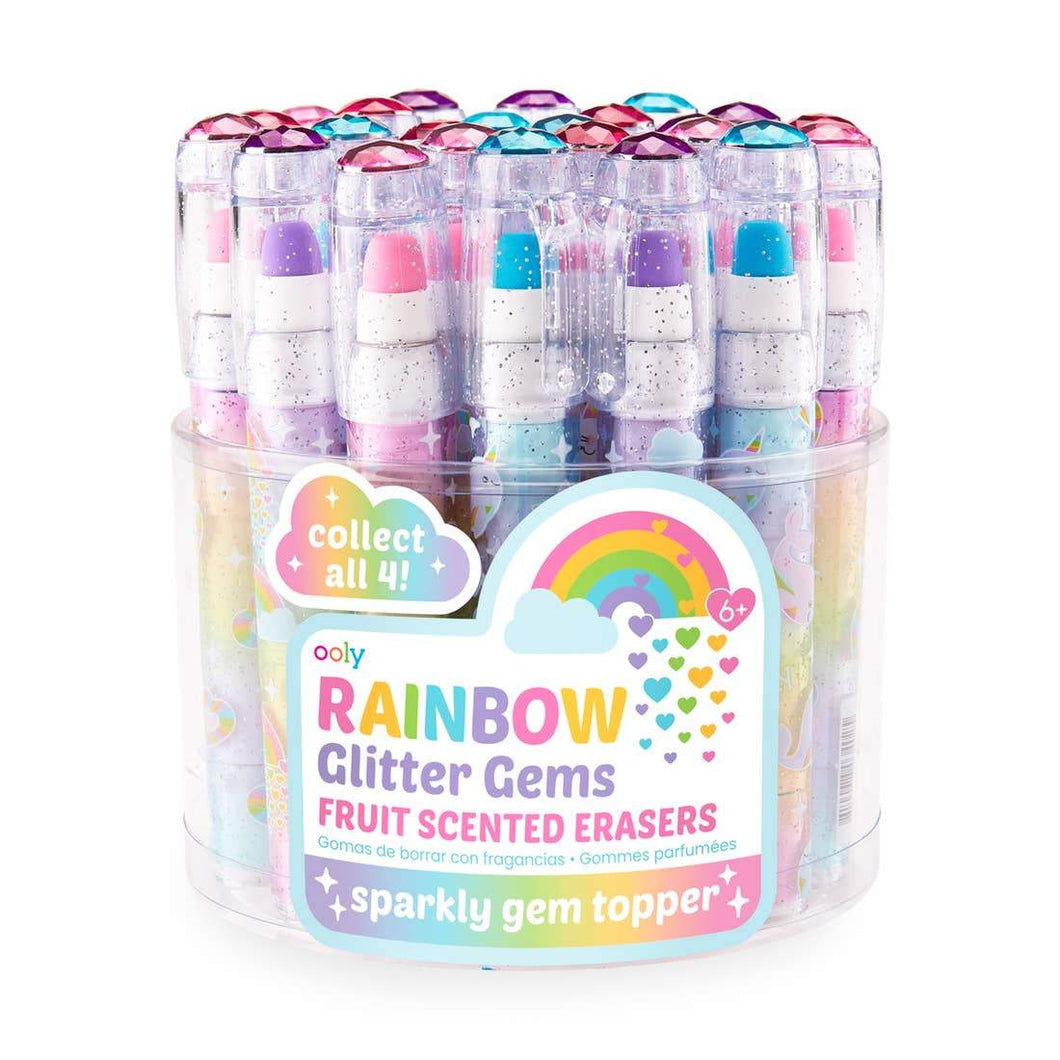 Ooly - Rainbow Glitter Gem Scented Erasers - Lemon And Lavender Toronto