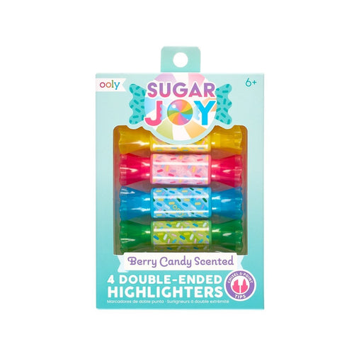 Ooly - Sugar Joy Scented Double-Ended Highlighters (Set of 4) - Lemon And Lavender Toronto
