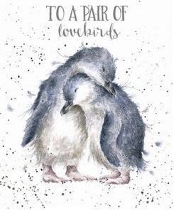 'Penguins in love' Special Couple card - Lemon And Lavender Toronto