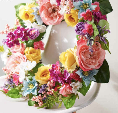 Peony and Rose Wreath - Lemon And Lavender Toronto
