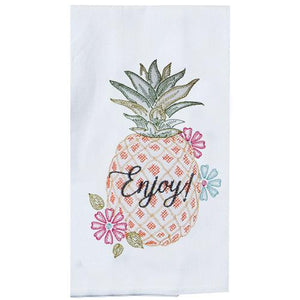 Pineapple Enjoy - Tea Towel - Lemon And Lavender Toronto